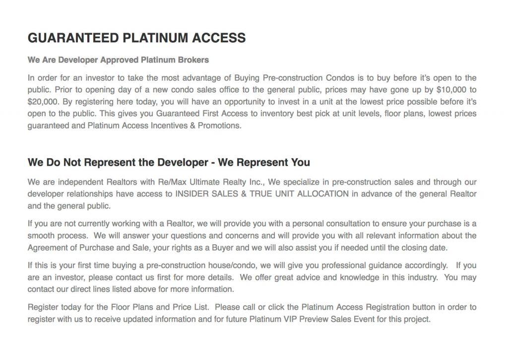 Guaranteed Platinum Access